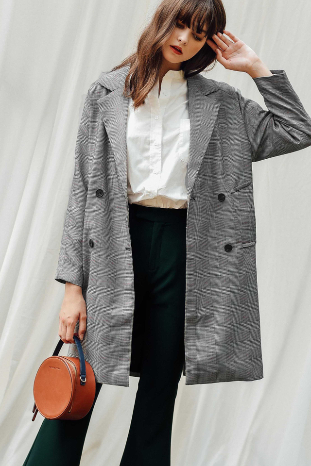 ADORA COAT IN PLAID CHECKS