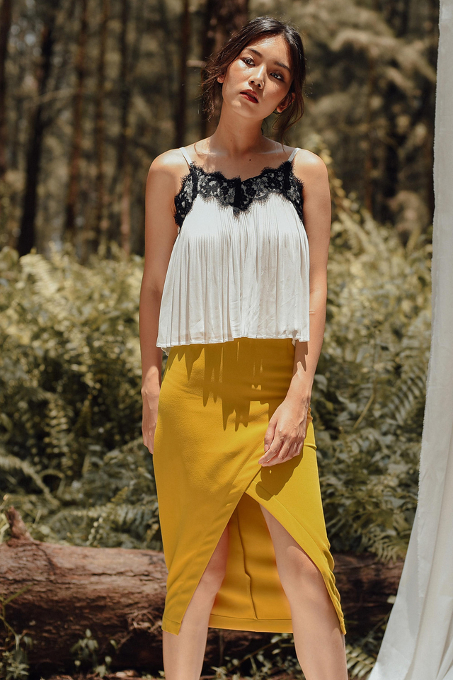 CHEYENNE SKIRT IN MUSTARD