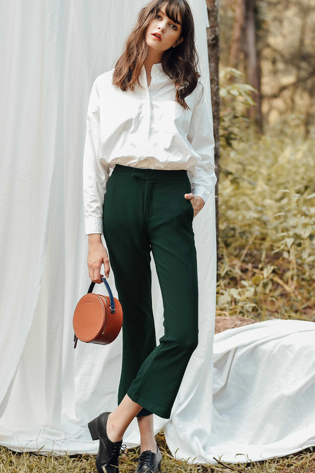 SHELLEY TRUMPET PANTS IN MOSS