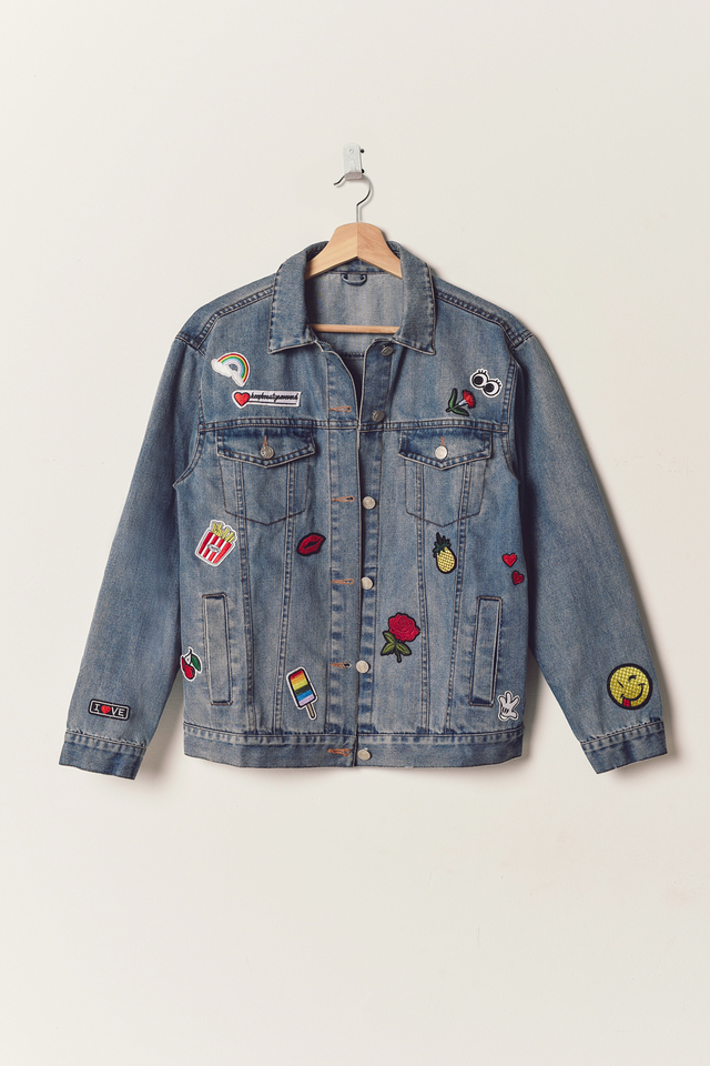 *RESTOCKED* DENIM PATCHED JACKET