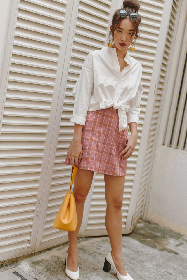 ADY POCKET SKIRT IN PINK