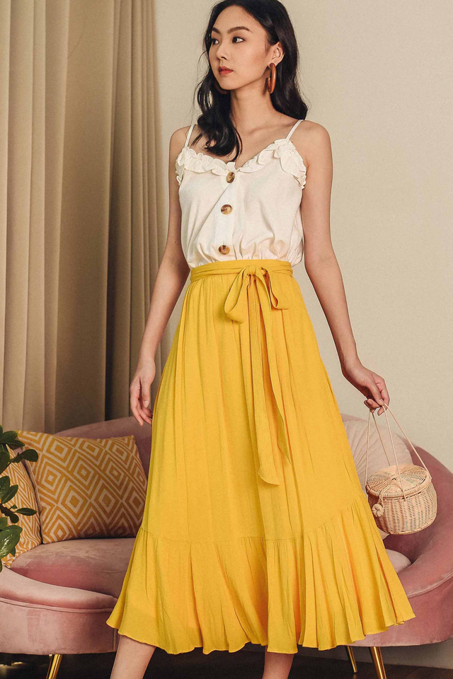 CERISE MAXI SKIRT IN YELLOW