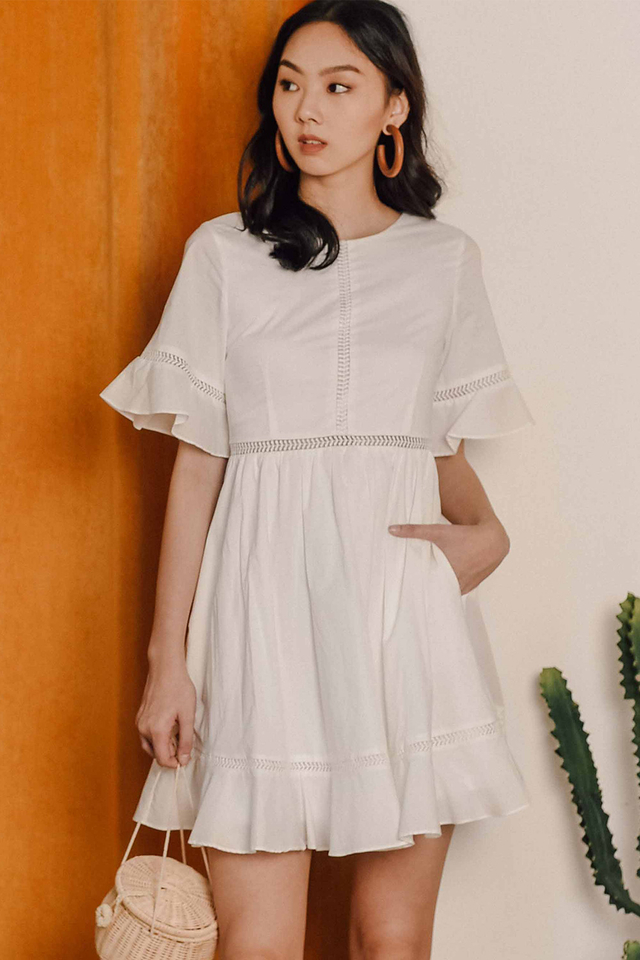 GABBY DRESS IN WHITE