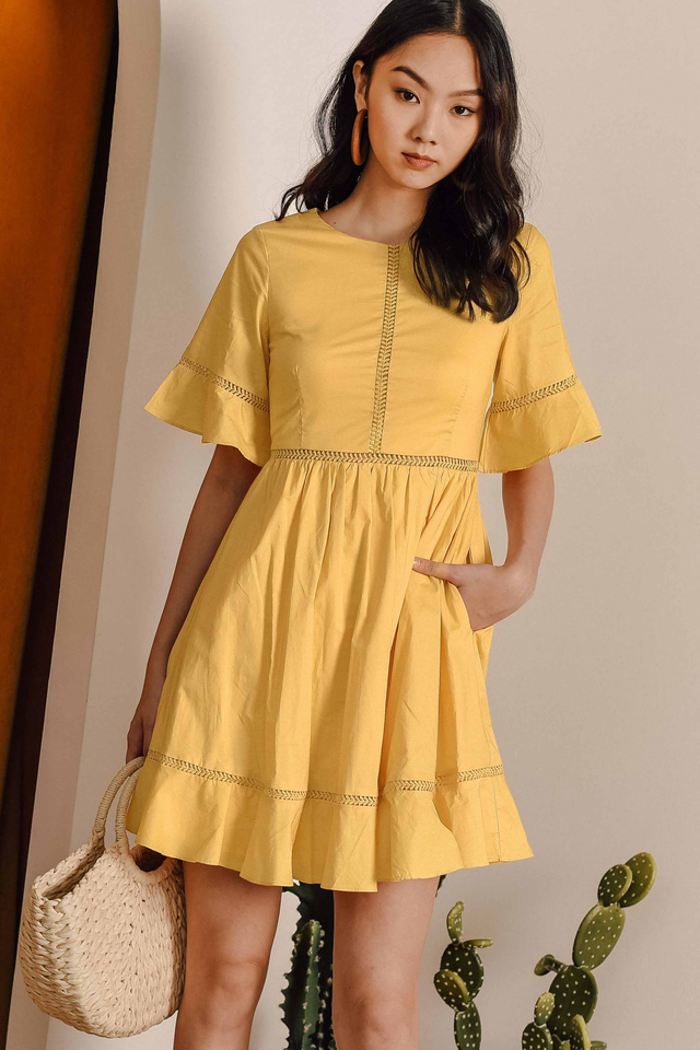 GABBY DRESS IN YELLOW