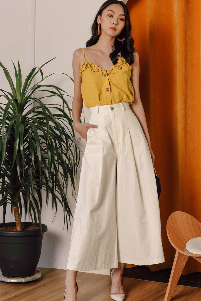 TIAGO WIDE LEG PANTS IN WHITE