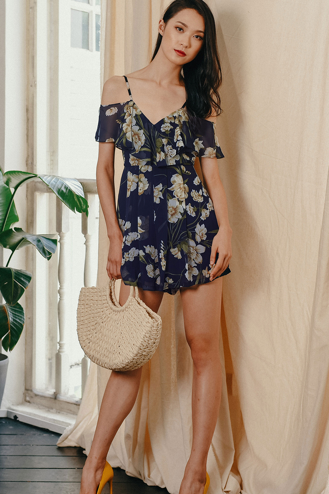 HARUKA PLAYSUIT IN NAVY