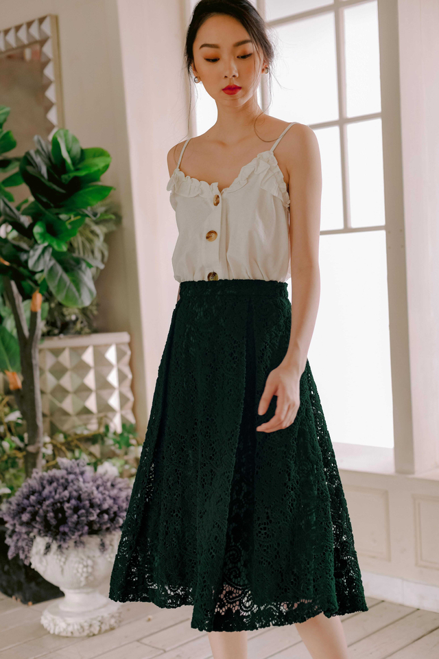 AVA PLEAT MIDI IN DEEP MOSS