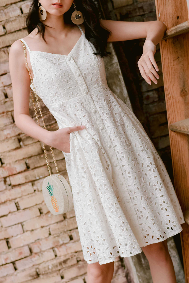 CADBY BUTTON MIDI IN WHITE