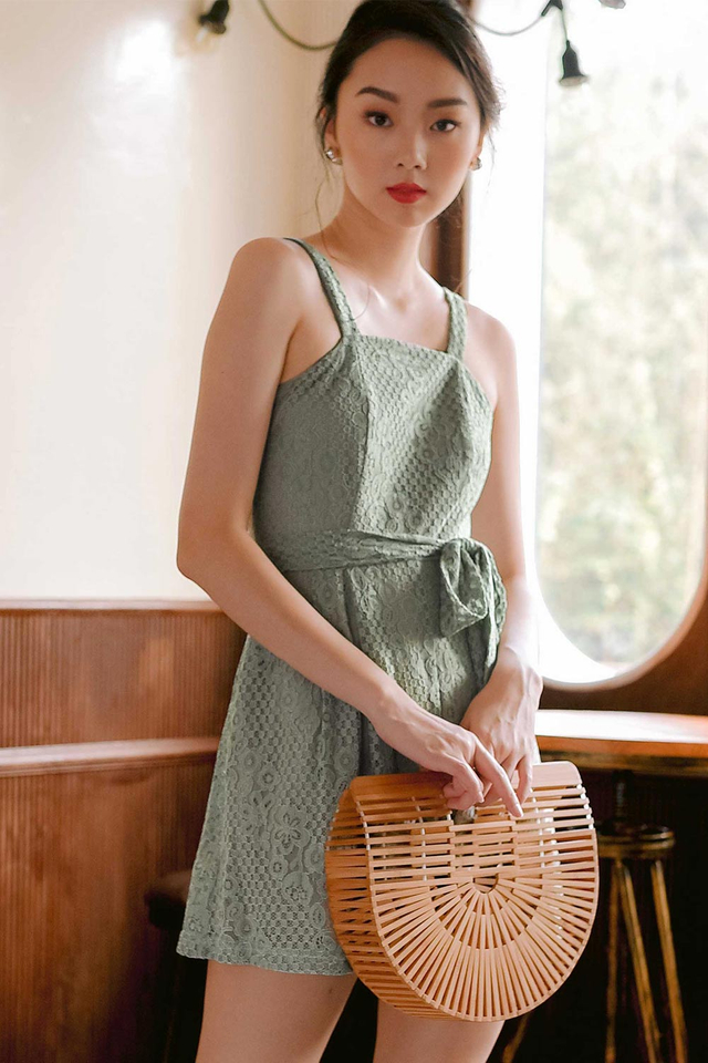 CARRIE PLAYSUIT IN SEAFOAM