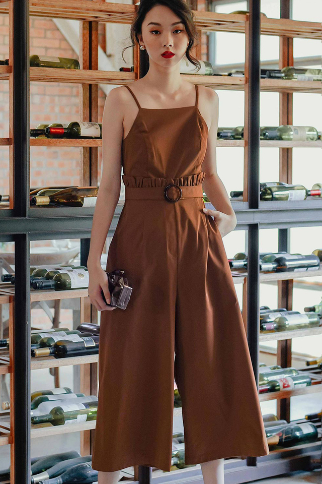 HAGEN JUMPSUIT IN BROWN