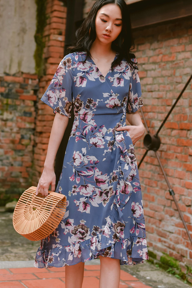 HARU WRAP MIDI IN BLUE