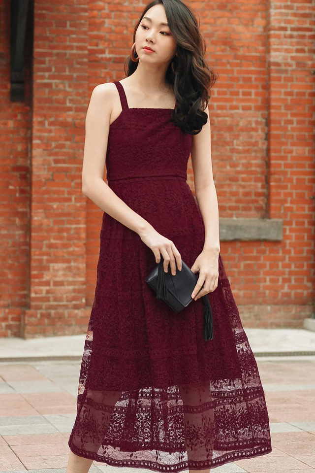 ROSELLE ORGANZA MAXI IN WINE