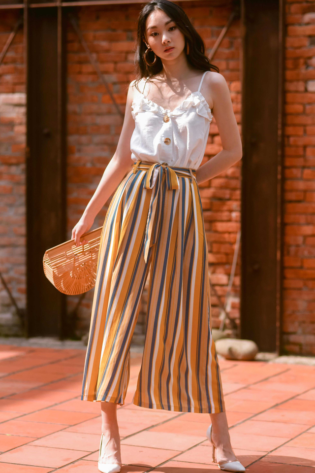 SAWYER STRIPED PANTS IN MUSTARD