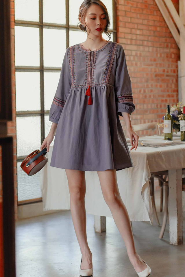 SEVILLE DRESS IN DUSK PERIWINKLE