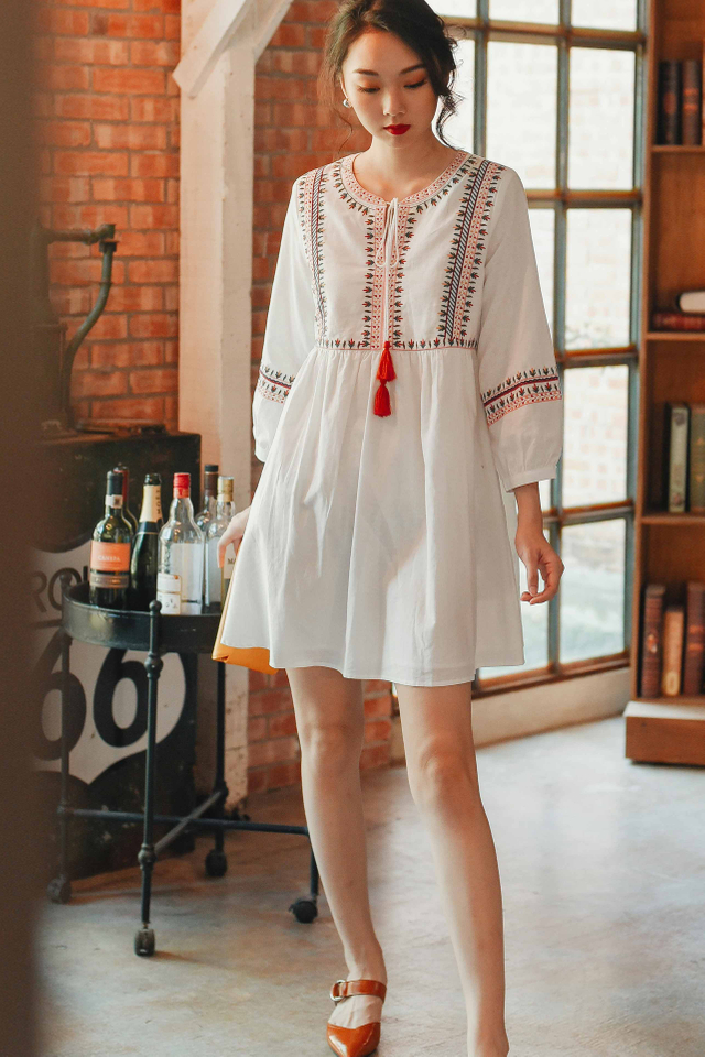 SEVILLE DRESS IN WHITE