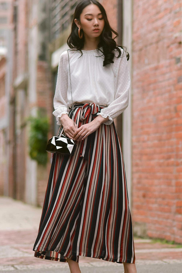 SAWYER STRIPED PANTS IN RED