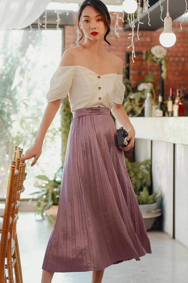 WIEN PLEAT MAXI IN PINK