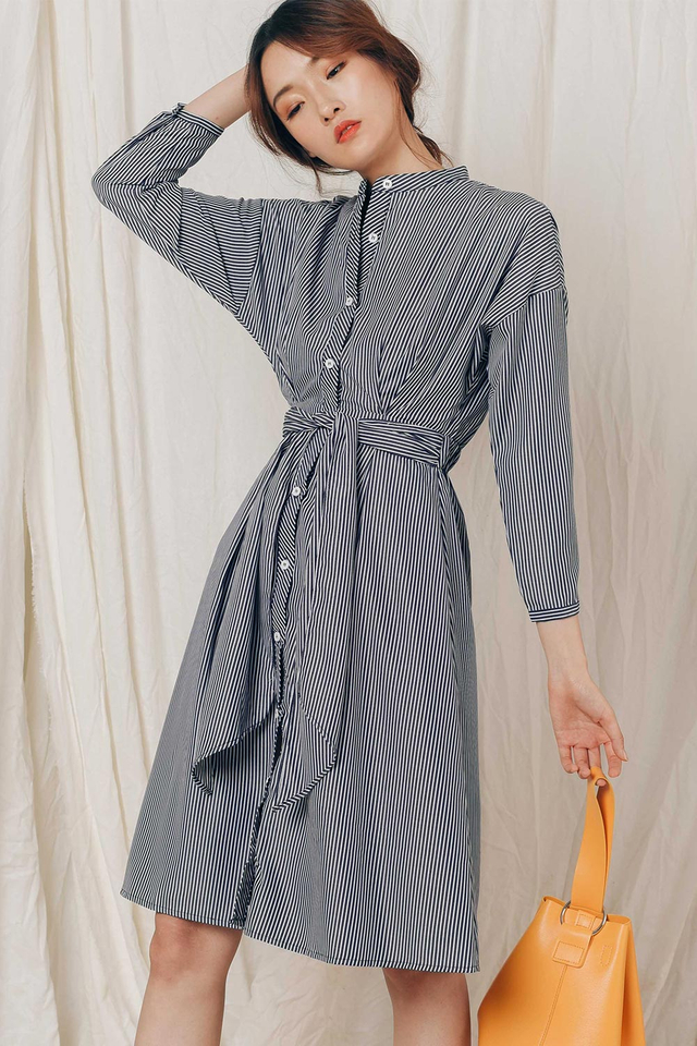 BRADFORD SHIRT DRESS IN NAVY