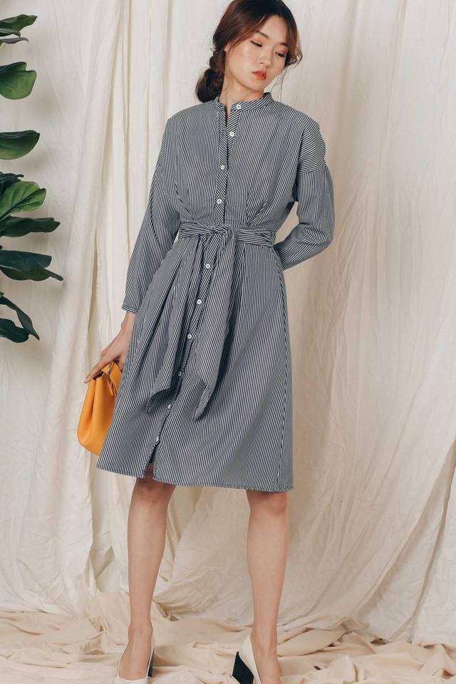 BRADFORD SHIRT DRESS IN NAVY