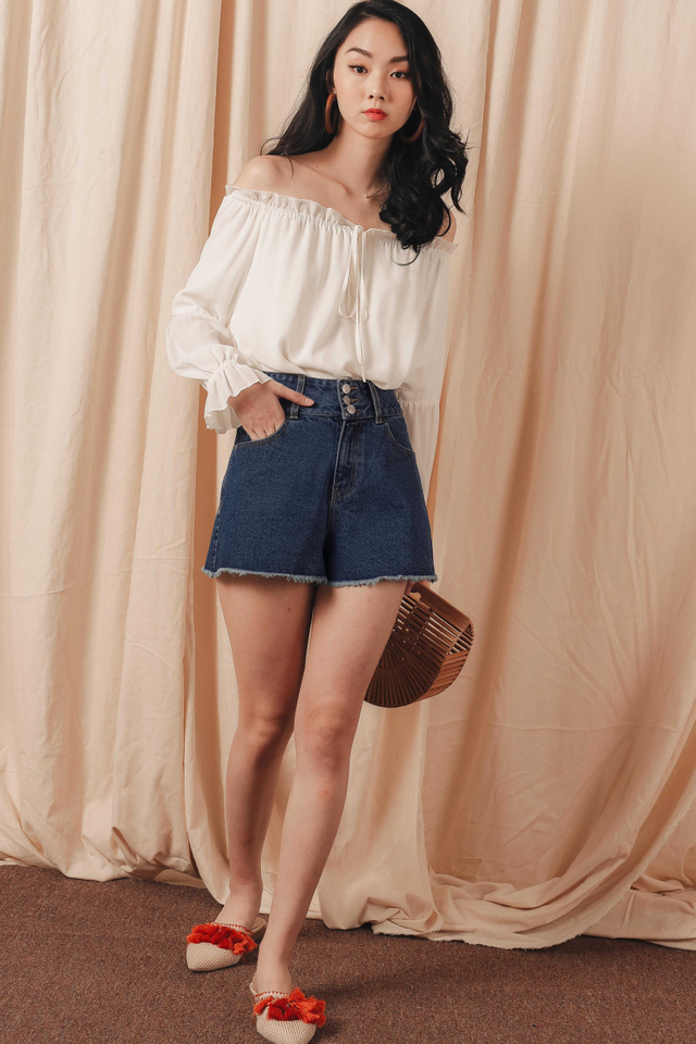 *BACKORDER 2* JAYDON DENIM SHORTS IN DARK WASH