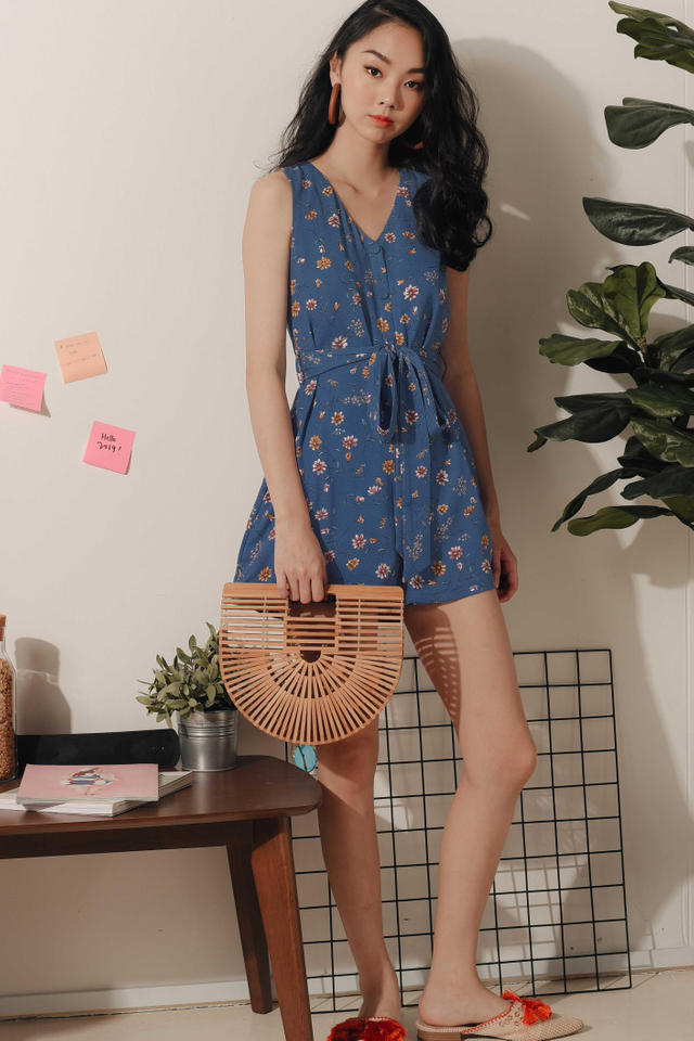 SELMA PLAYSUIT IN BLUE