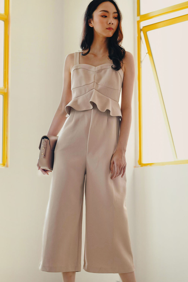 MARCI JUMPSUIT IN ALMOND
