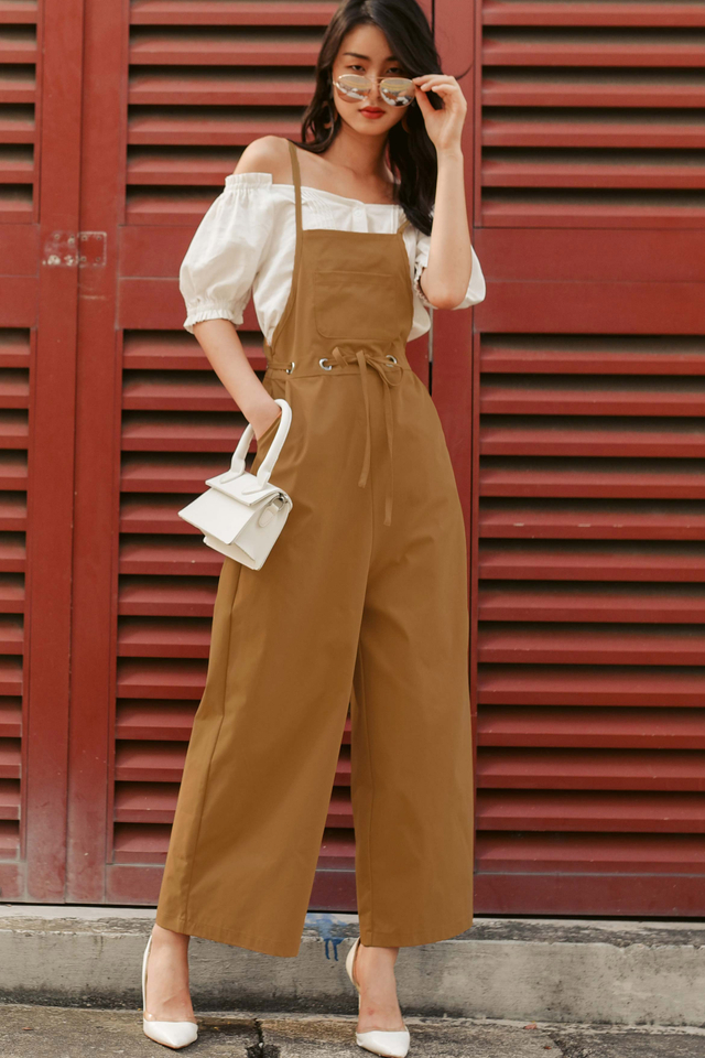 EVAN JUMPSUIT IN MAPLE