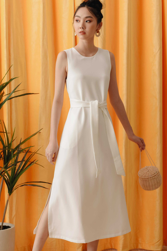*BACKORDER* JAKE SASH MAXI IN WHITE