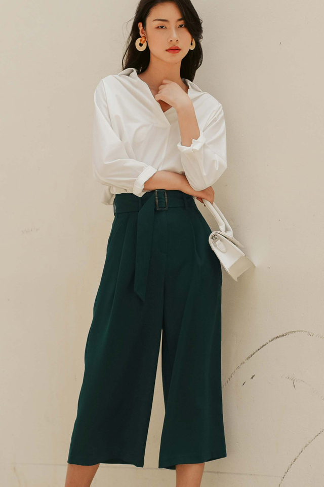 JAN BUCKLE CULOTTES IN DEEP MOSS