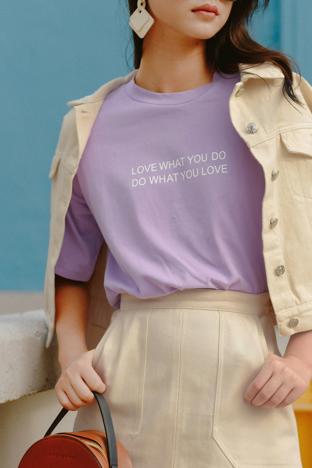 *BACKORDER* LOVE WHAT YOU DO TEE IN LAVENDER