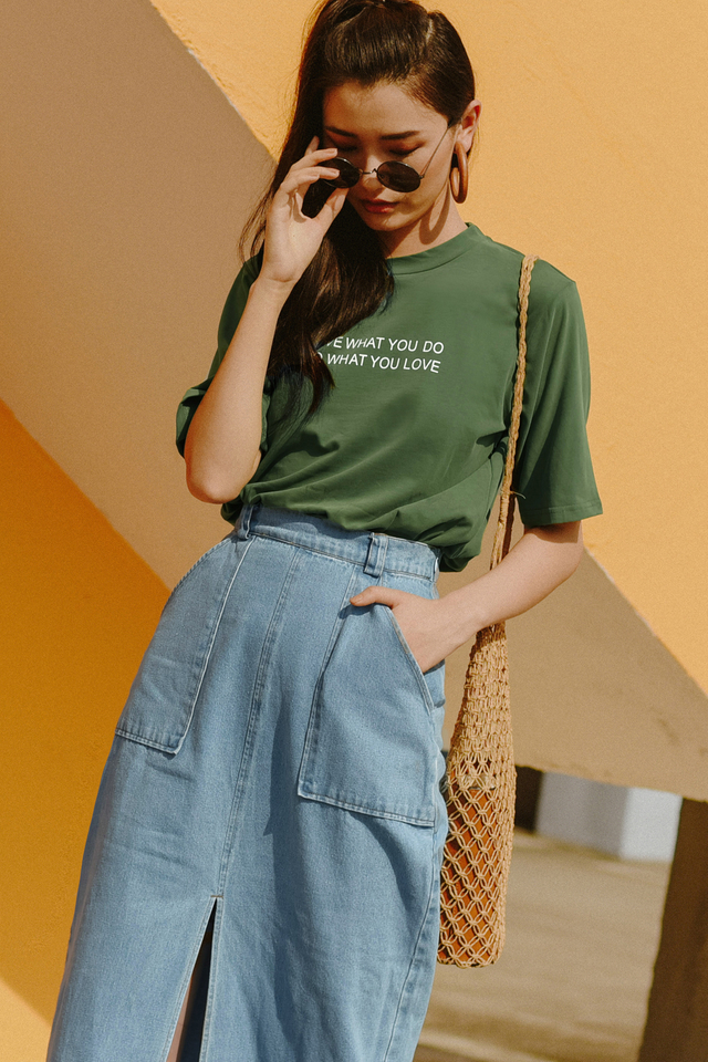 *RESTOCKED* LOVE WHAT YOU DO TEE IN OLIVE