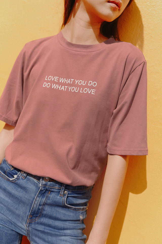 *BACKORDER* LOVE WHAT YOU DO TEE IN PINK