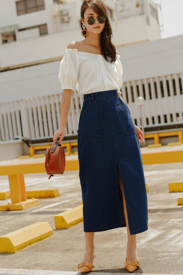 *RESTOCKED* DIEGO DENIM MAXI IN DARK WASH