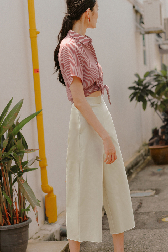 FRAZER DENIM CULOTTES IN ECRU