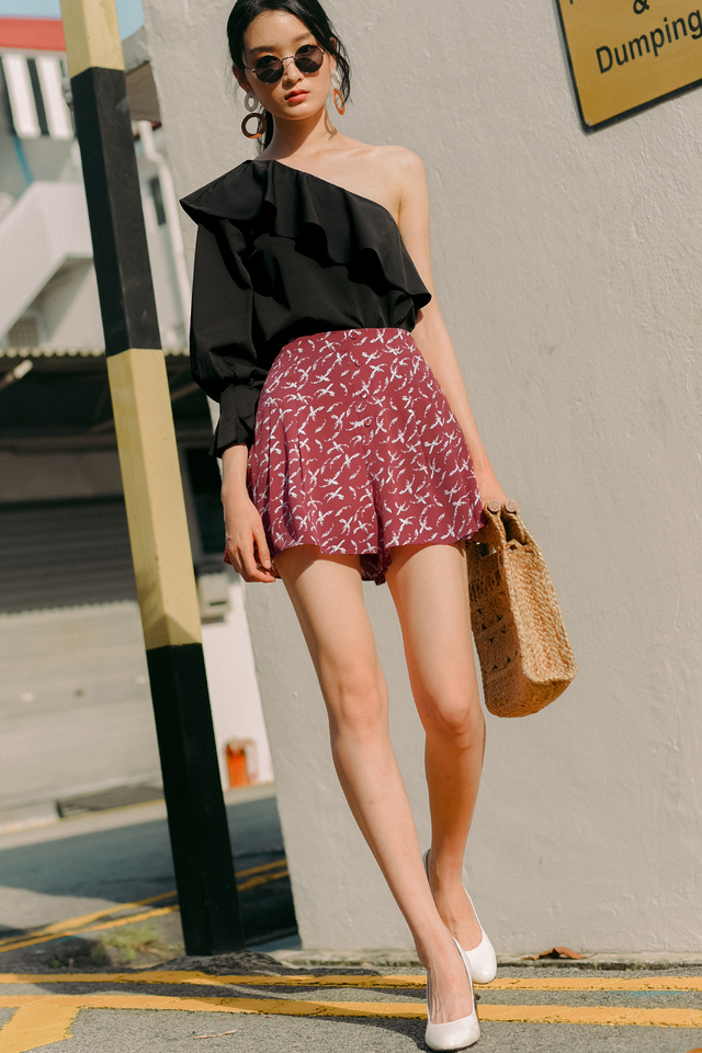 NICO BUTTON SKORTS IN ROSE