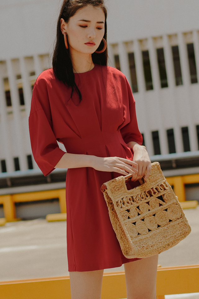 OLIVETTE DRESS IN RED