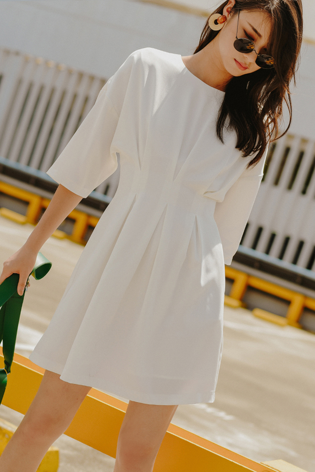 OLIVETTE DRESS IN WHITE