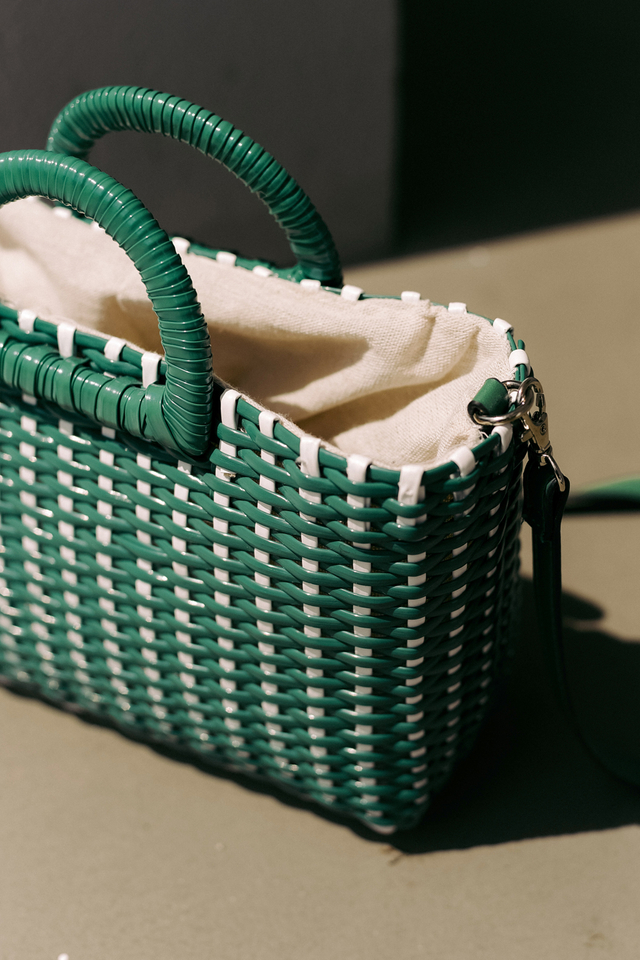 WEAVED BASKET BAG