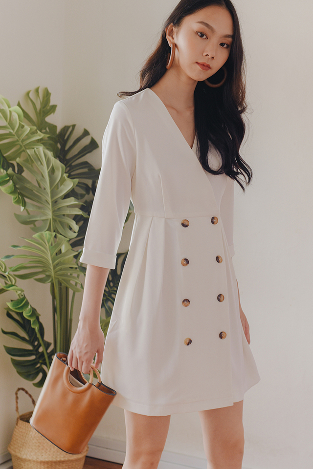 *RESTOCKED* ADETTE DRESS IN WHITE