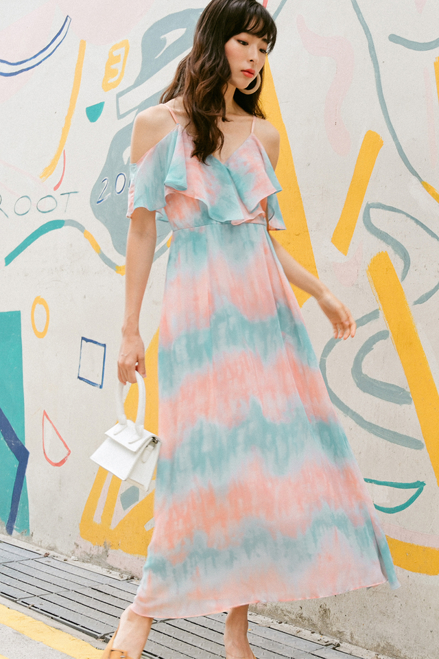 CAREY MAXI IN PINK BLUE