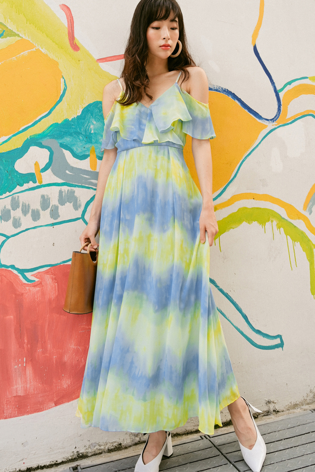 CAREY MAXI IN YELLOW BLUE