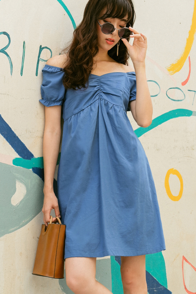 HILA BABYDOLL DRESS IN BLUE