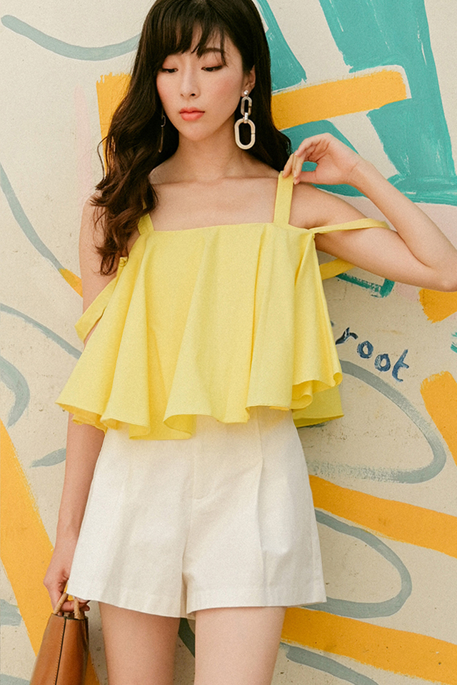 LENNIE BABYDOLL TOP IN YELLOW