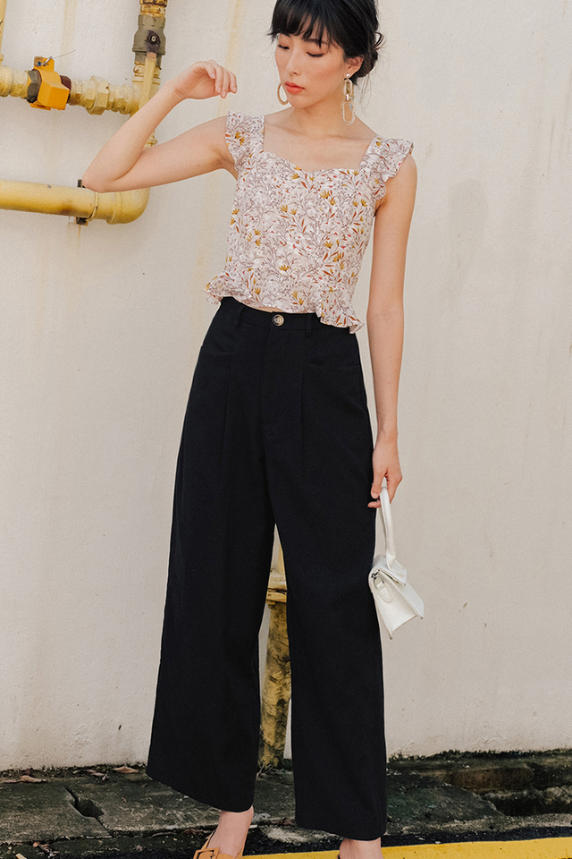 MICAH LINEN PANTS IN BLACK