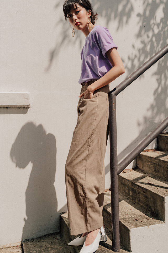 MICAH LINEN PANTS IN KHAKI