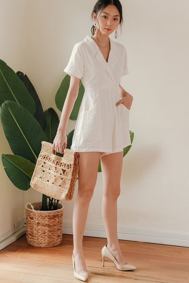 RILEY PLAYSUIT IN WHITE