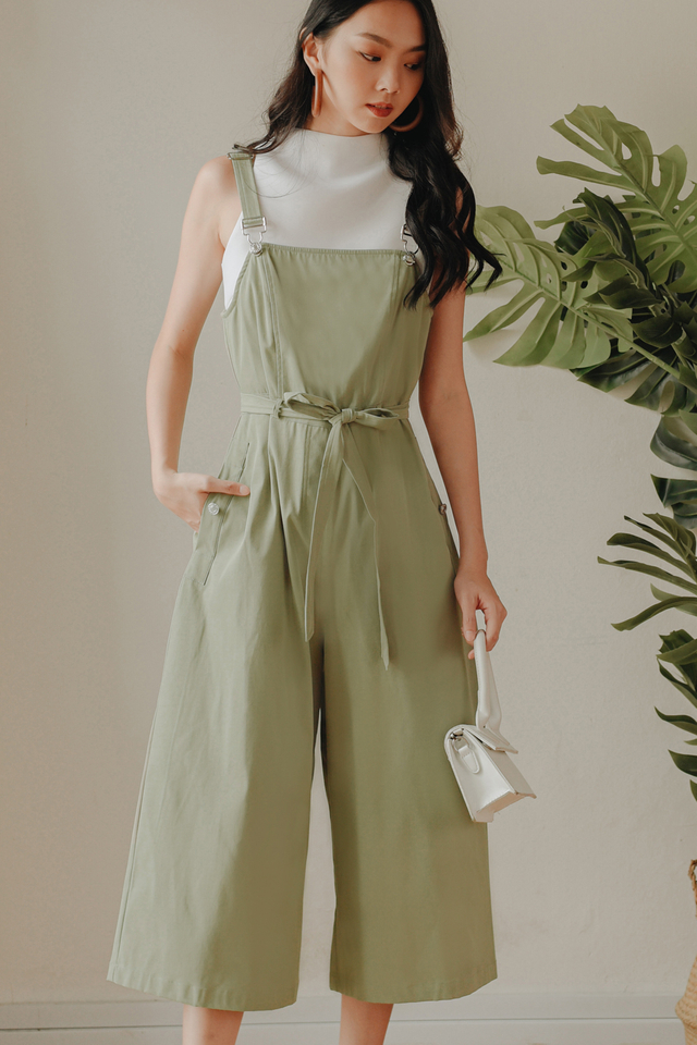 SOIREE JUMPSUIT IN PISTACHIO