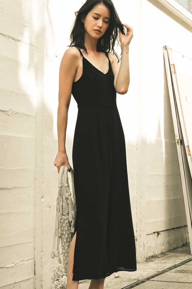 BRIXTON JUMPSUIT IN BLACK