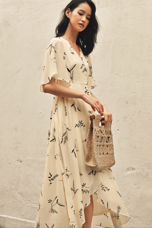 ROWAN WRAP MAXI IN CREAM