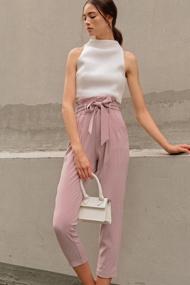 TATE PAPERBAG PANTS IN PINK